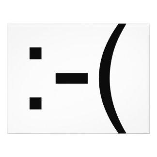 Sad Emoticon geek products Invites