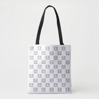 Sad Emoticon Pattern Tote Bag