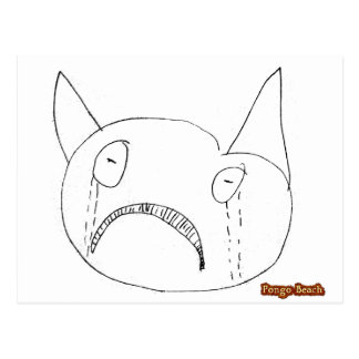 Sad Face Postcard