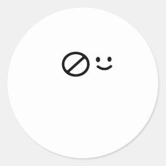 Sad Face Round Sticker