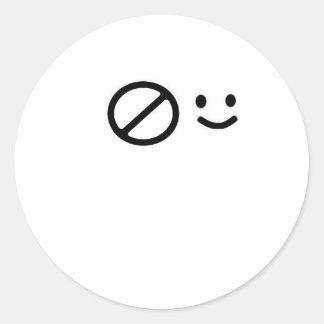Sad Face Round Stickers