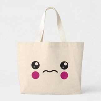 Sad Face Tote Bags