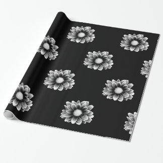 Sad Flower Pattern Wrapping Paper