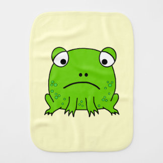 Sad Frog Burp Cloth