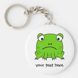 Sad Frog Basic Round Button Key Ring