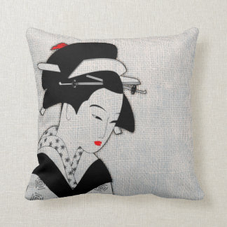 Sad Geisha Light Grey Cushion