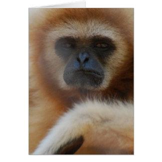 Sad Gibbon Greeting Card