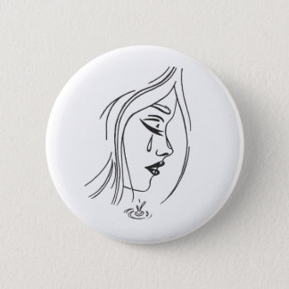 Sad Girl Button