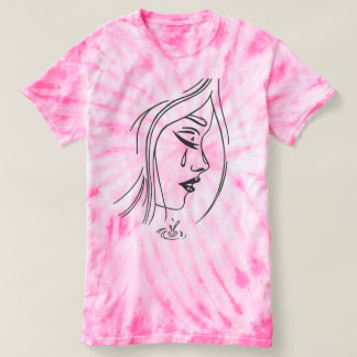 Sad Girl Tie-Dye T-Shirt