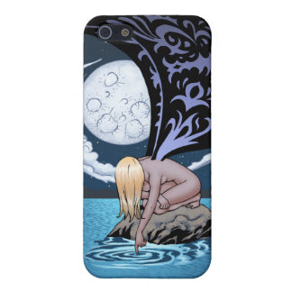 Sad Gothic Fairy in the Moonlight by Al Rio iPhone 5 Case