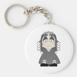 Sad Gothic Princess Key Chains