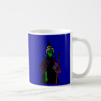 Sad Green Halloween Witch Coffee Mug