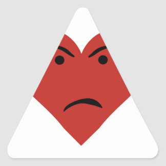 Sad Heart Triangle Sticker