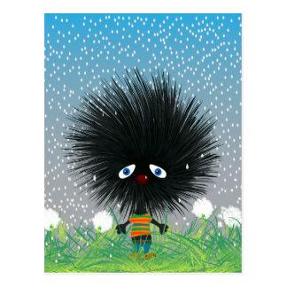 sad hedgehog post cards