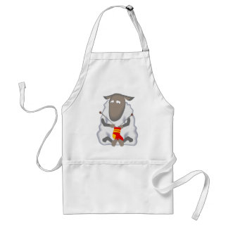 Sad Ironic Sheep Knitting Sock Wool Standard Apron