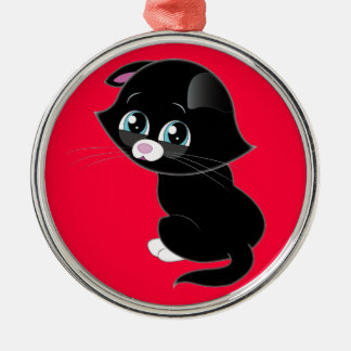 Sad Kitten Christmas Ornament