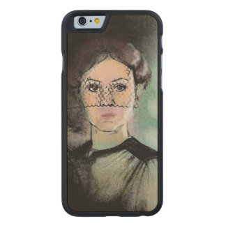 Sad Lady Carved® Maple iPhone 6 Slim Case