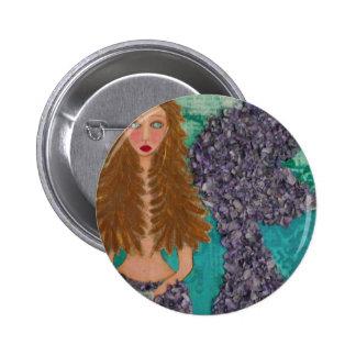 sad little mermaid.jpg 6 cm round badge
