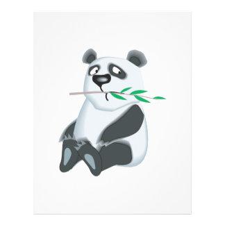 sad little panda bear flyer design