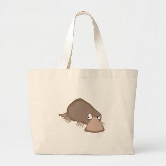 sad little platypus large tote bag