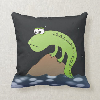 Sad Lizard at Night Funny Pillows