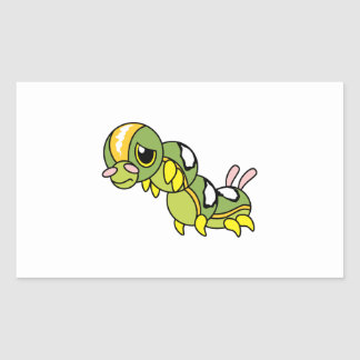 Sad Lonely Crying Weeping Caterpillar Card Stamp Rectangular Sticker