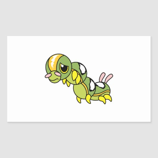 Sad Lonely Crying Weeping Caterpillar Card Stamp Stickers