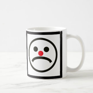 Sad Looking Face with Cheeky Red Nose Coffee Mug