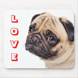 Sad Love Pug Puppy Dog  Mousepad