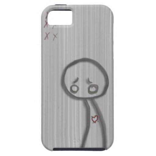 sad man iPhone 5/5S cases