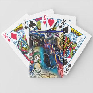 Sad Mermaid Bicycle Playing Cards