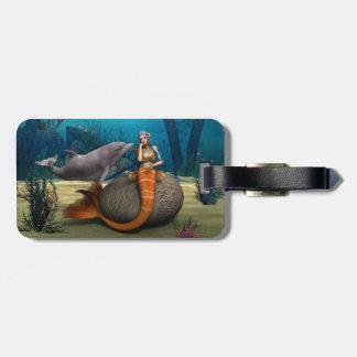 Sad Mermaid Luggage Tag