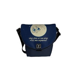 Sad Moon Messenger Bag