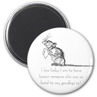 Sad Mouse Farewell Magnet