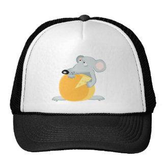 Sad Mouse Mice Holding Cheese Cap