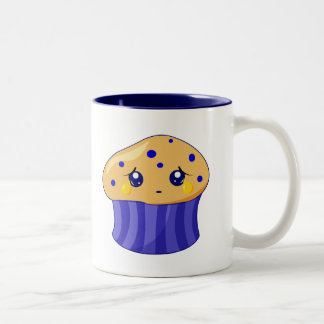 Sad Muffin Two-Tone Coffee Mug