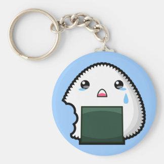 Sad Onigiri Key Ring