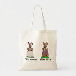 Sad or happy Easter Budget Tote Bag