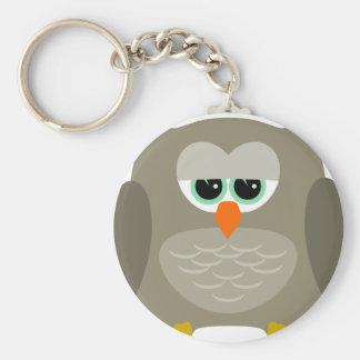 Sad owl key ring