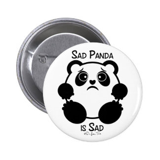 Sad Panda 6 Cm Round Badge
