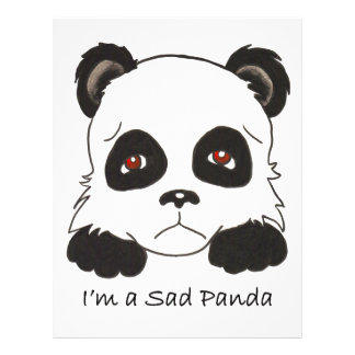 Sad Panda Custom Flyer