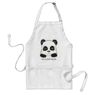 Sad Panda Standard Apron