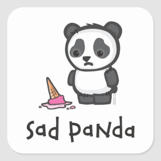 Sad Panda sticker