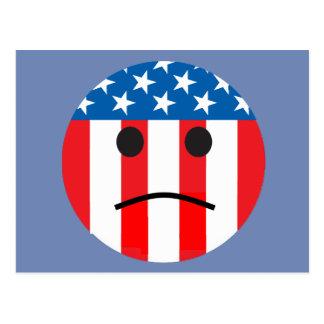 sad patriotic smiley postcard