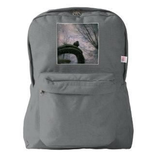 Sad pigeon backpack