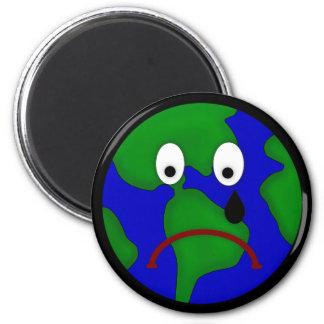 Sad Planet Earth Design Refrigerator Magnets