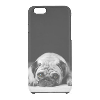 Sad Pug Clear iPhone 6/6S Case