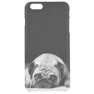 Sad Pug Clear iPhone 6 Plus Case