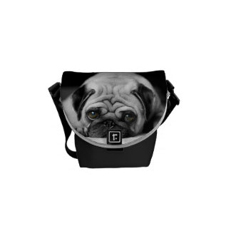 Sad Pug Courier Bag