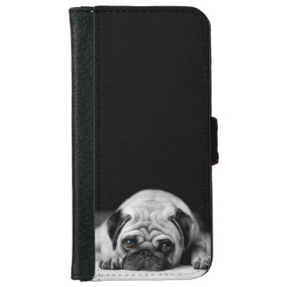 Sad Pug iPhone 6 Wallet Case